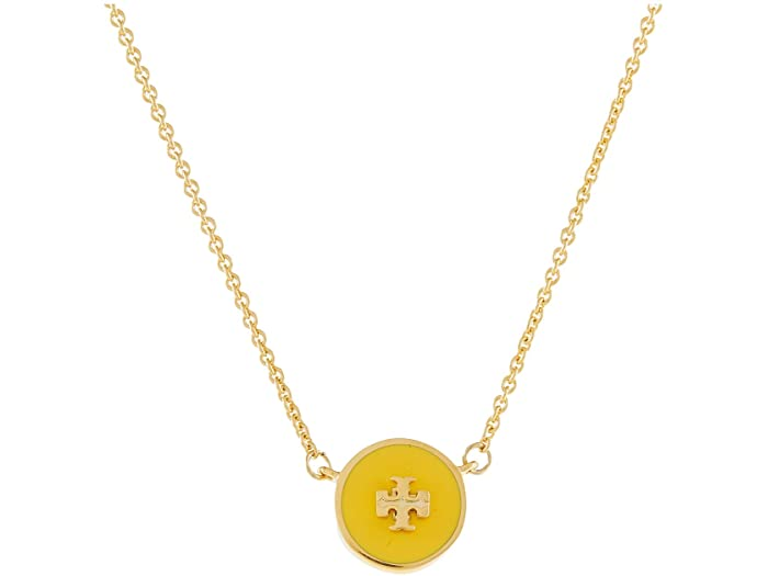 Tory Burch Kira Enamel Pendant Necklace