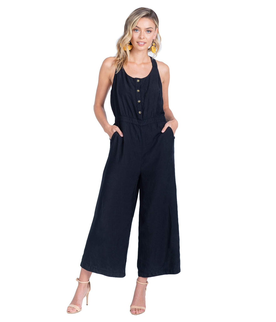 Ezra Button-Up Tank Jumpsuit