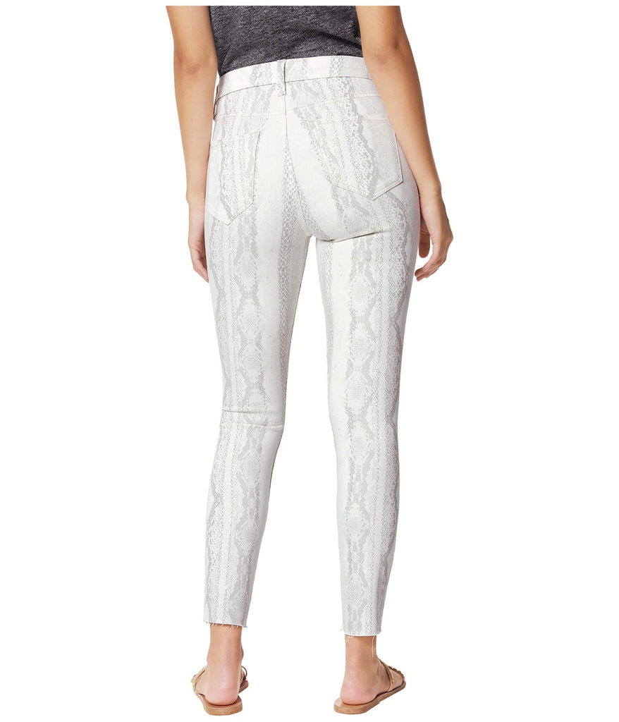 Hi (Rise) Honey Crop w/ Cut Hem in Vesper White