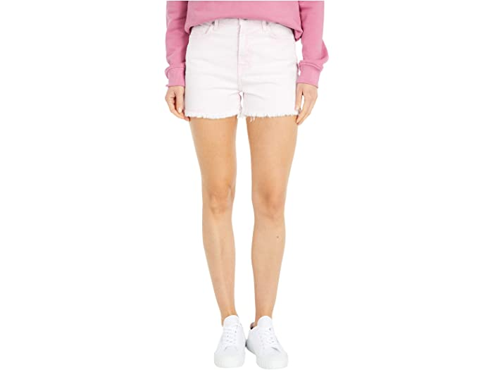 7 For All Mankind High-Waist Shorts with Fray Hem in Mineral Pink