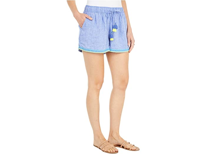 Vineyard Vines Linen Embroidered Pull-On Shorts