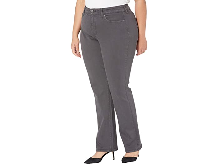 NYDJ Plus Size Plus Size Marilyn Straight Jeans in Vintage Pewter