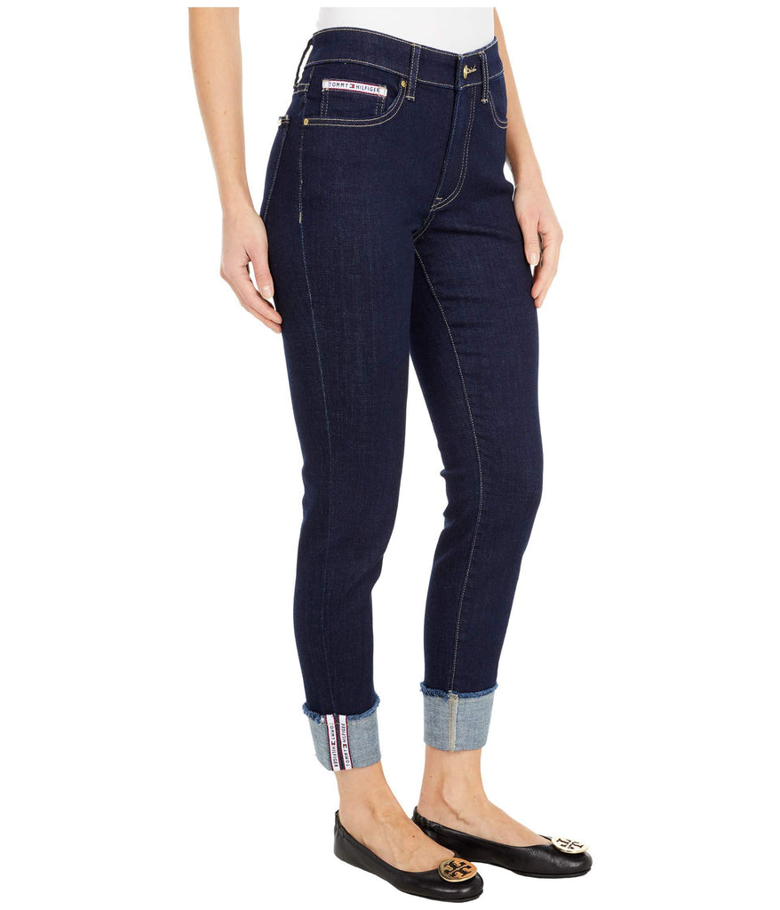 Tribeca Skinny Crop with Cuff in Indigo Wash Denim