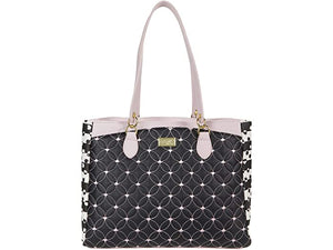 Luv Betsey Briane Quilted Tote with Slip Pocket and Tie-Dye Sides