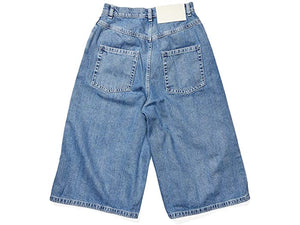 SUNNEI Fitloose Shorts in Washed Denim