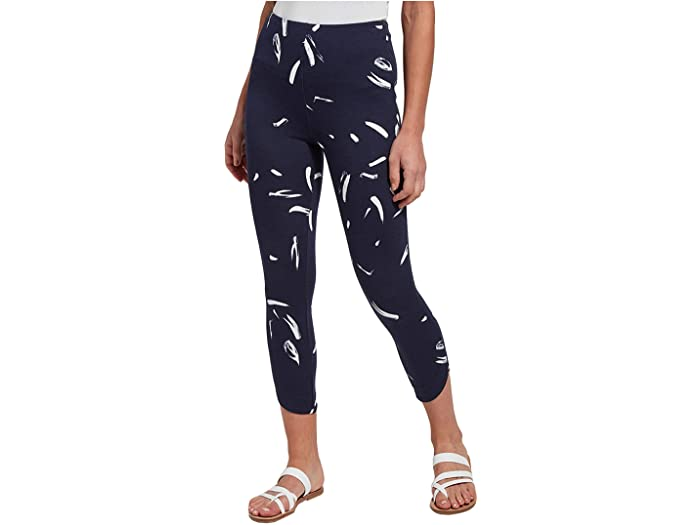 Lysse Jasmyne Printed Crop Leggings in Lightweight Ponte