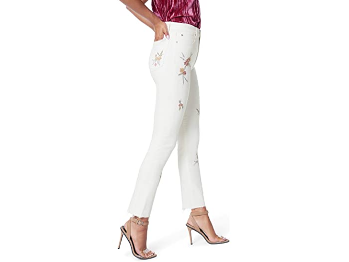 Joe's Jeans Luna Ankle Cut Hem Floral Embroidery in Honeysuckle