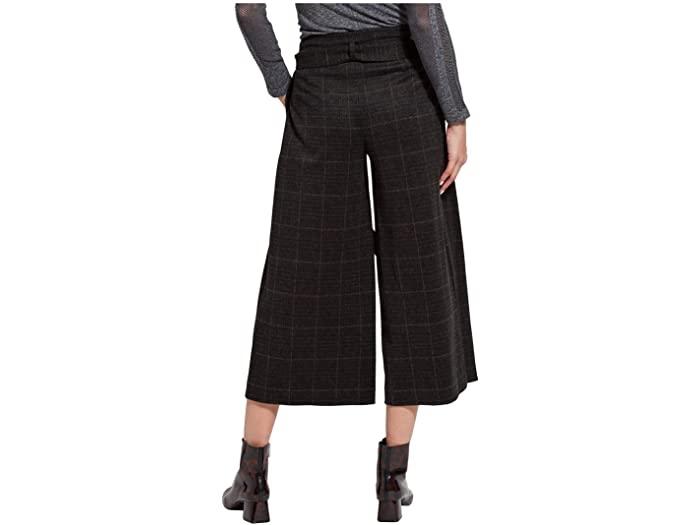 Lysse Siri Crop Pants in Brushed Ponte Jacquard with Functional Pockets
