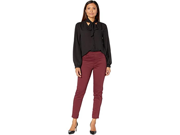 FDJ French Dressing Jeans D-Lux Denim Pull-On Ankle in Garnet