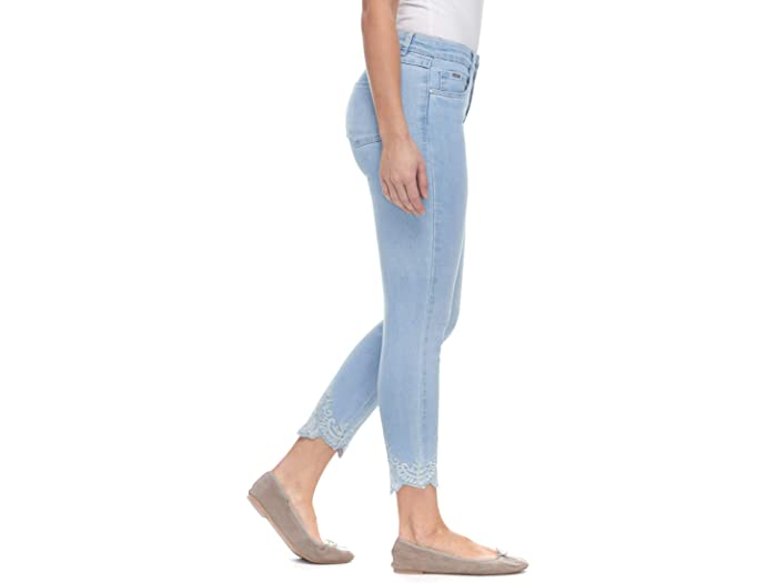 FDJ French Dressing Jeans Christina Slim Ankle with Embroidered Hem Detail in Pale Sky