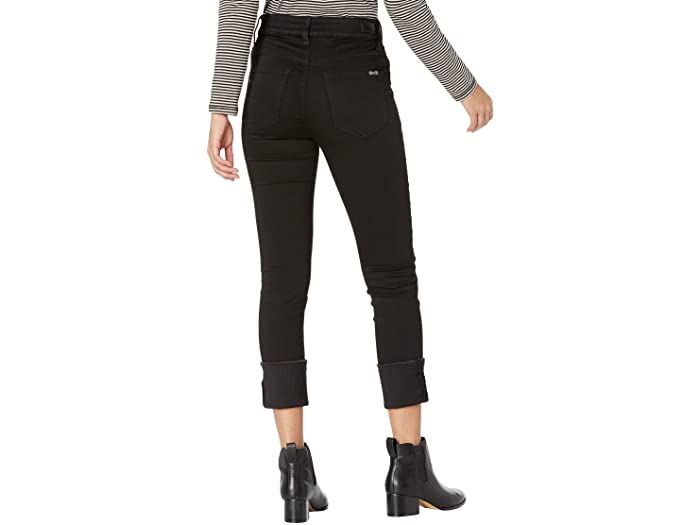 Seven7 Jeans Slim Straight High Cuff Jeans in Black