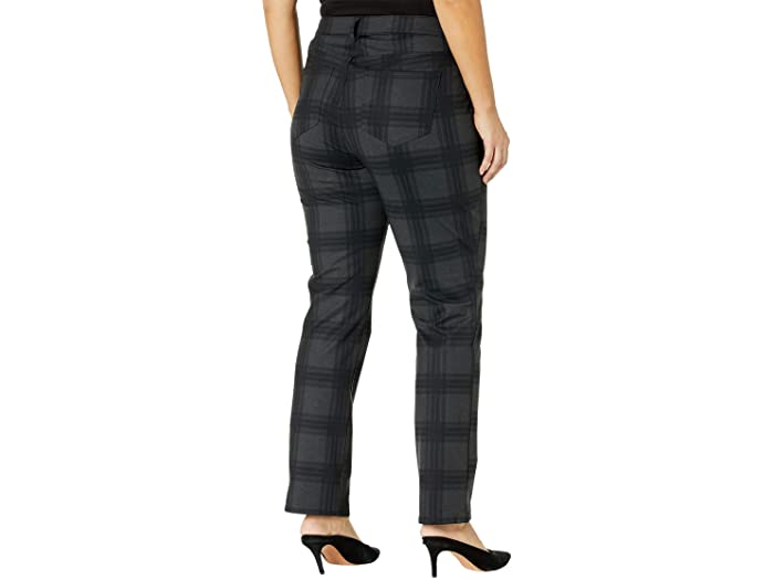 NYDJ Plus Size Plus Size Marilyn Straight Jeans in Piedmont Plaid