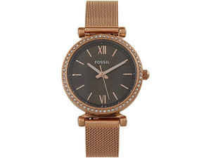 Fossil Carlie Mini Three-Hand Stainless Steel Mesh Watch - ES4957