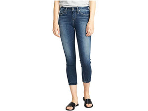 Silver Jeans Co. Avery High-Rise Curvy Fit Skinny Crop Jeans L44910ASX375
