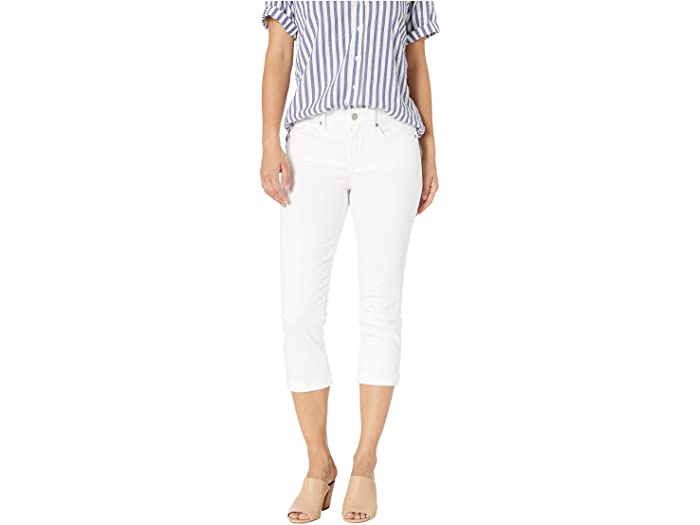 NYDJ Petite Petite Chloe Capri Jeans in Optic White
