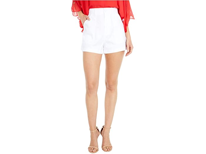 7 For All Mankind Patch Pocket Shorts in Optic White