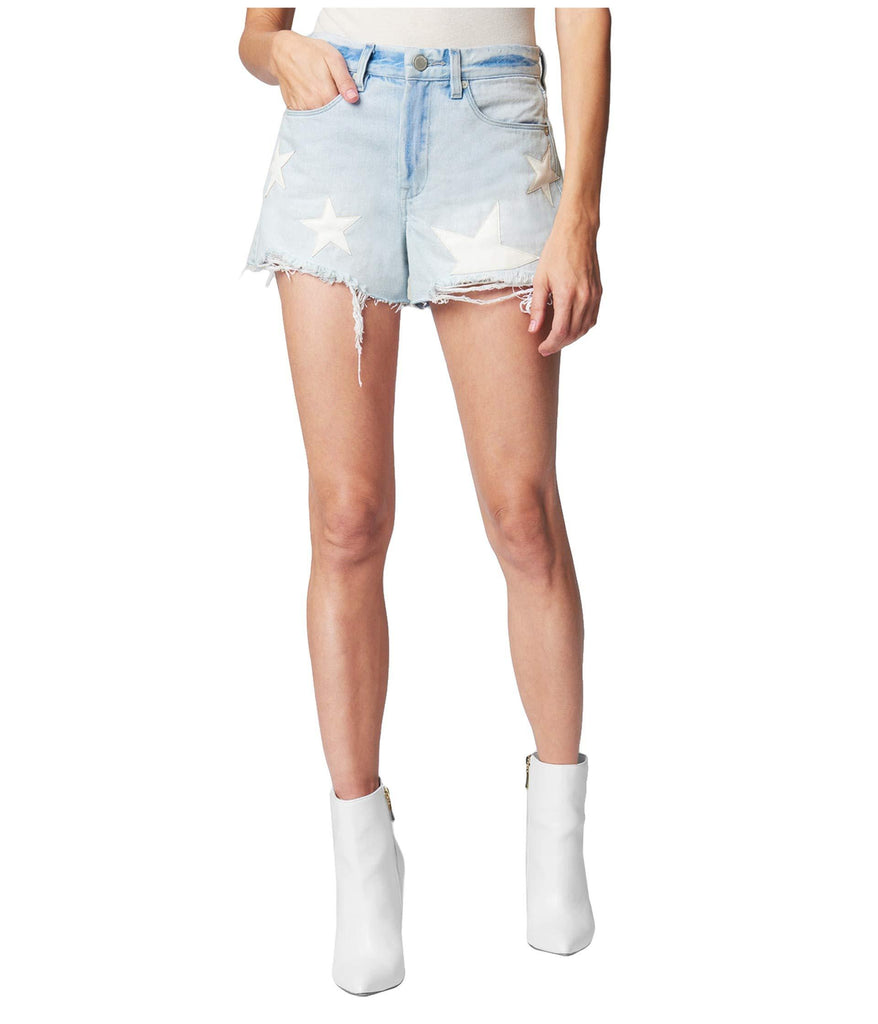Cutoff Shorts with Star Detail