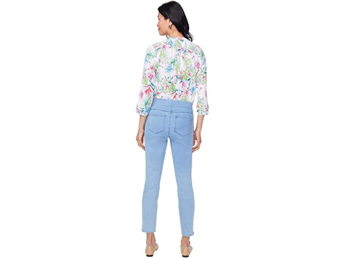 NYDJ Petite Petite Pull-On Skinny Ankle Jeans with Side Slits in Belle Isle