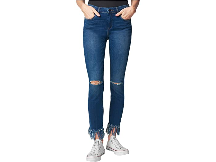 Blank NYC Denim Skinny with Fringe Hem Detail in Over Packed