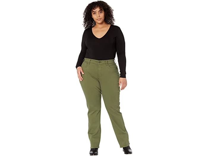 NYDJ Plus Size Plus Size Marilyn Straight Jeans in Martini Olive
