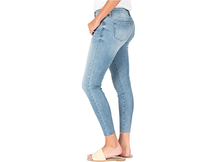 KUT from the Kloth Connie Crop Skinny with Raw Hem in Adaptive/Medium Base Wash