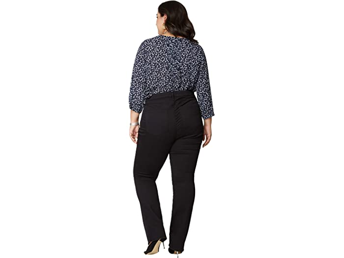 NYDJ Plus Size Plus Size Slim Bootcut Jeans in Black