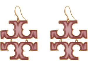 Tory Burch Transparent Logo Drop Earrings