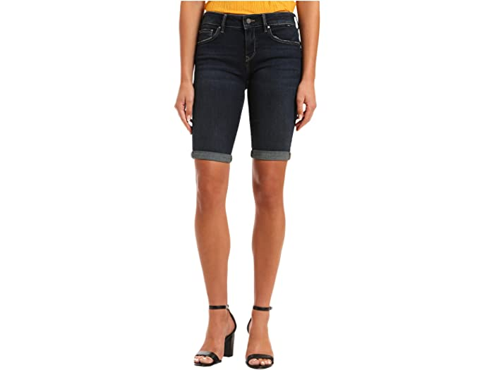 Mavi Jeans Karly Mid-Rise Shorts in Deep Tribeca