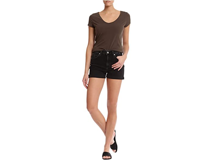 Mavi Jeans Ella High-Rise Shorts in Dark Smoke '80s