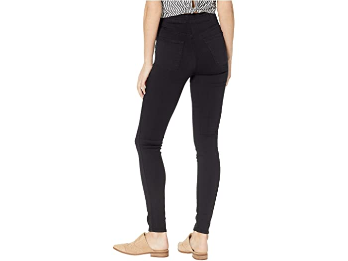 J Brand Natasha High-Rise Skinny in Seriously Black