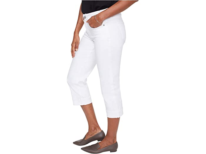 NYDJ Marilyn Crop Cuff Jeans in Optic White