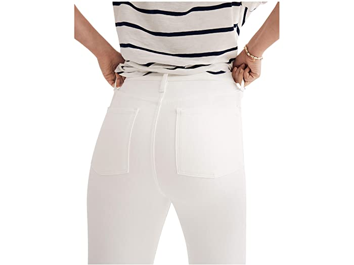 "Madewell 9"" Mid-Rise Skinny in Pure White"