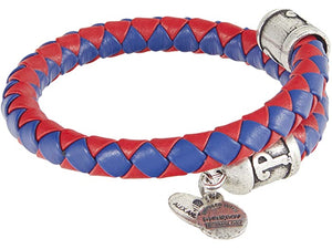 Alex and Ani MLB Philadelphia Phillies Braided Leather Wrap Bracelet