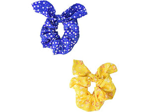 Plush 2-Pack Scrunchie with Bow