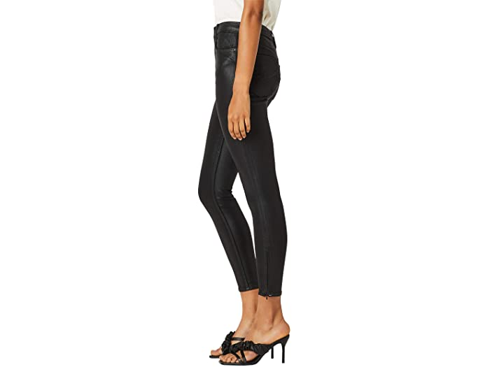 Hudson Jeans Centerfold Extreme High-Rise Super Skinny in High Shine Black