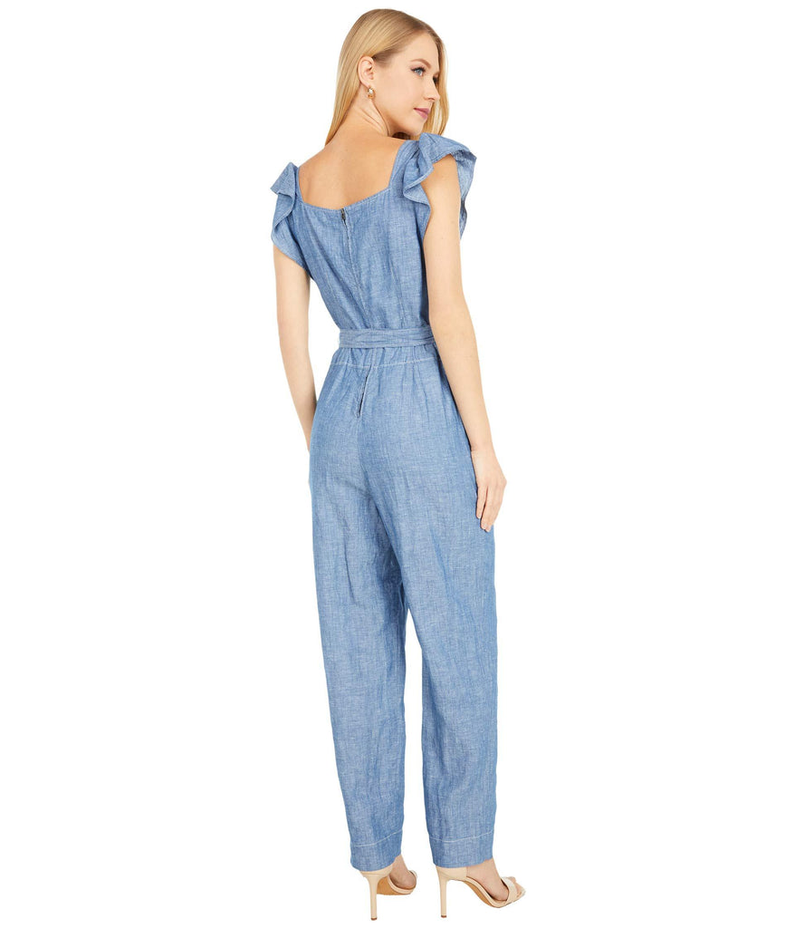 Sleeveless Indigo Jumpsuit