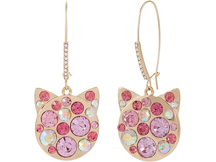 Betsey Johnson Cat Shepherd Hook Earrings