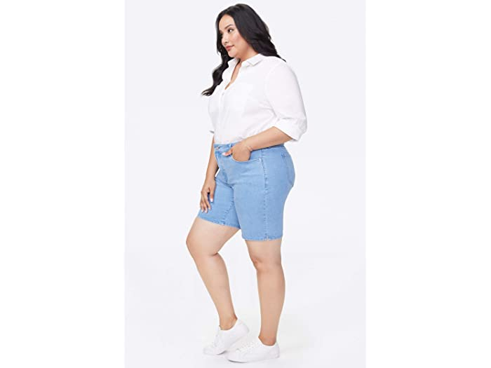 NYDJ Plus Size Plus Size Ella Shorts with Side Slits in Belle Isle