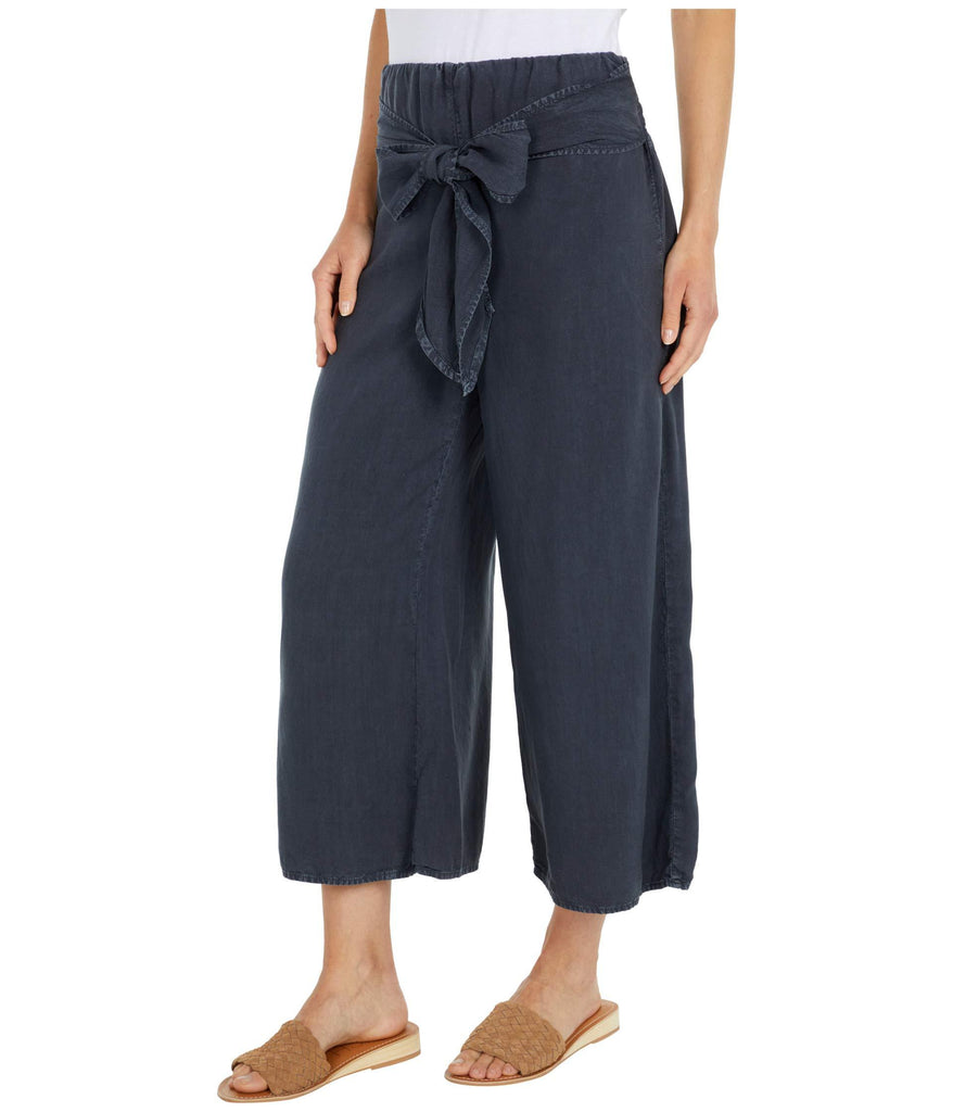 Tie Waist Wide Leg Crop Pants