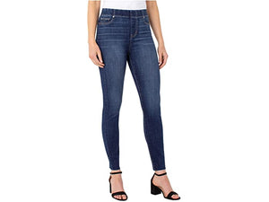 Liverpool Chloe Pull-On Ankle Skinny Cut Hem Jeans in Rockaway