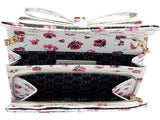 Betsey Johnson Dani Floral Printed Crossbody with Bow