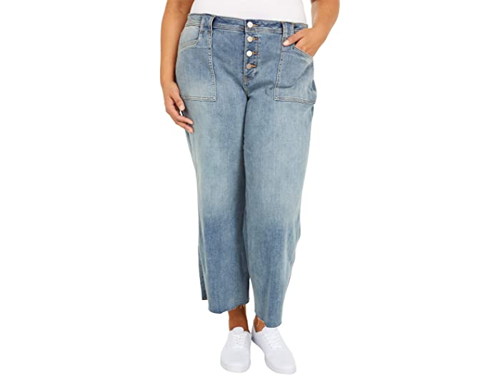 NYDJ Plus Size Plus Size Teresa Wide Leg Ankle Jeans in Clean Clayburn