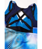 Shift Layered Cross-Back Tankini
