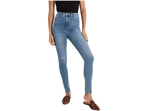 Madewell 11'' High-Rise Roadtripper Jeggings in Keele Wash: Knee-Rip Edition