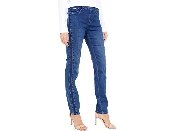 FDJ French Dressing Jeans Statement Denim Pull-On Cigarette Leg in Mid Indigo