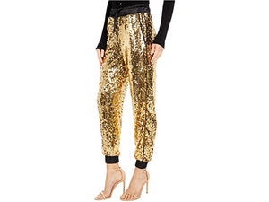 Versace Jeans Couture Gold Sequin Jogger