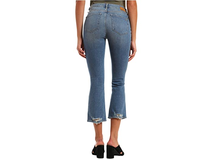 Mavi Jeans Anika High-Rise Cropped Flare in Used Destroyed Hem Vintage