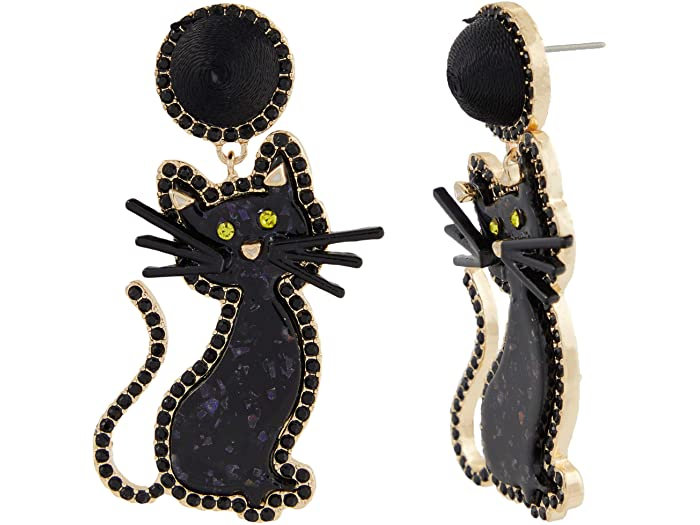 Front Row Black Cat Earrings 32869