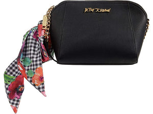Betsey Johnson XO Anaya Crossbody with Scarf and Chain Strap