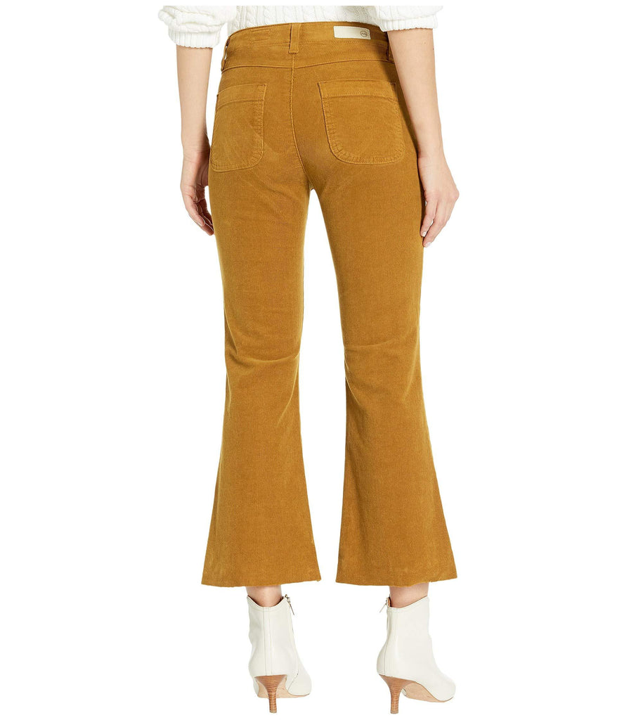 Paneled Quinne Crop in Mustard Gold